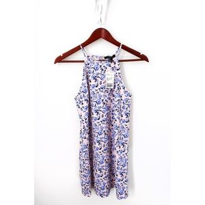 Pink & Blue Floral Cami Dress